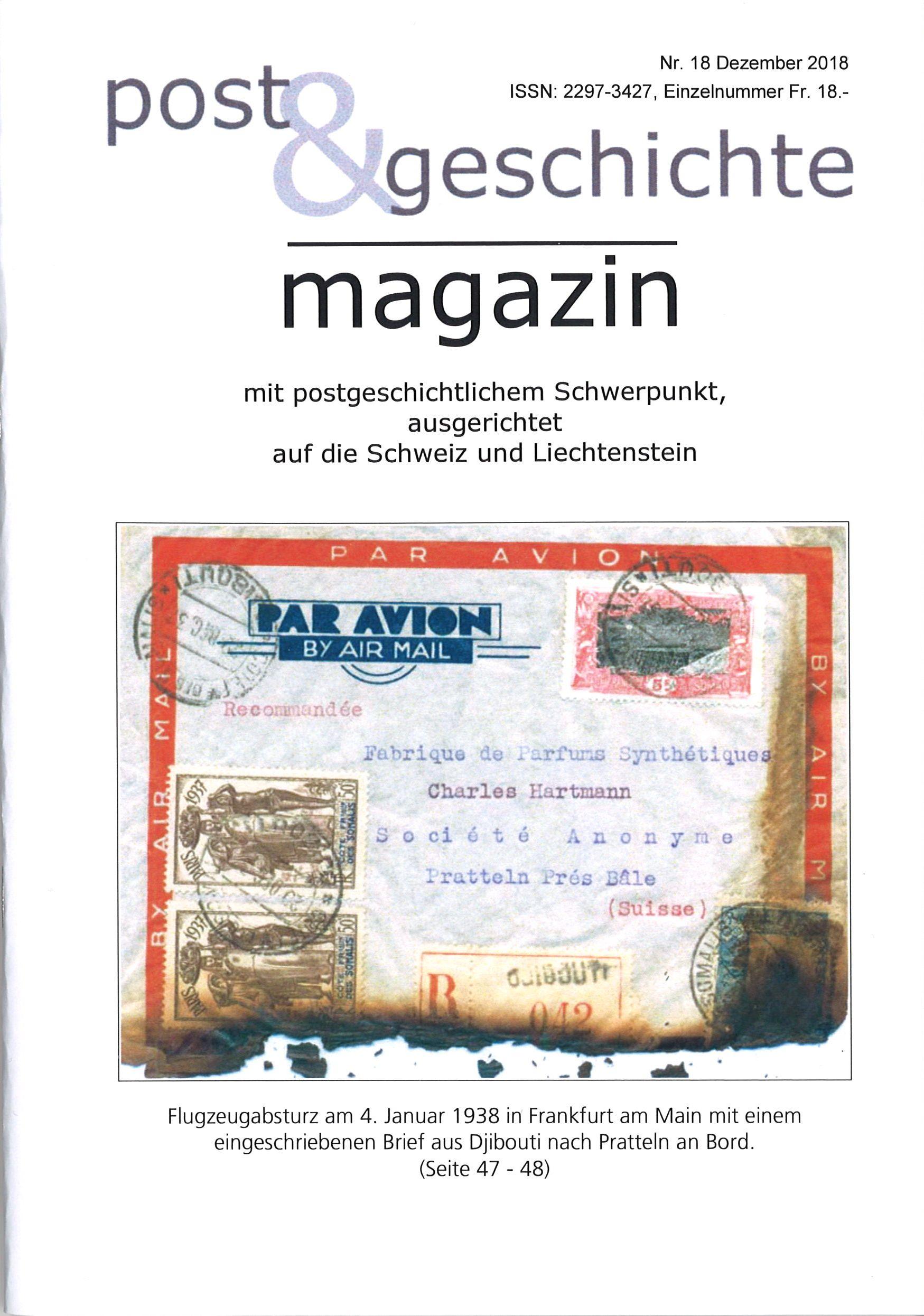 Neu Erschienen Post Geschichte Nr 18dezember 2018 Aphv